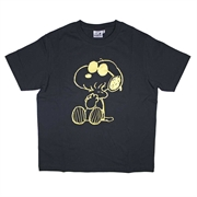 Snoopy Ladies Cotton T-Shirt 201AG102 - Black