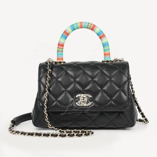 Chanel Mini Coco Top Handle 迷你彩虹手挽垂蓋手袋