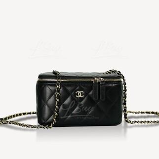 Chanel鏈帶長型化妝箱包