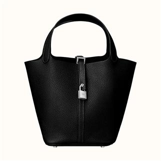 Hermes Pitcotin Lock 22 Bag 手挽袋 黑銀