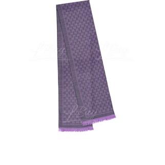 Gucci GG logo 紫色全羊毛圍巾