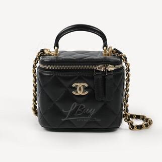 Chanel Vanity Case 黑色手挽鏈帶小號化妝盒子