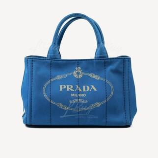 Prada Denim 彩藍色牛仔布手挽袋單肩袋