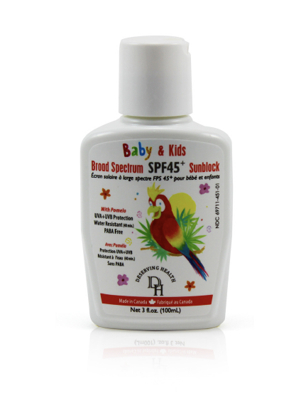 Deserving Health Baby & Kids Sunblock SPF45
