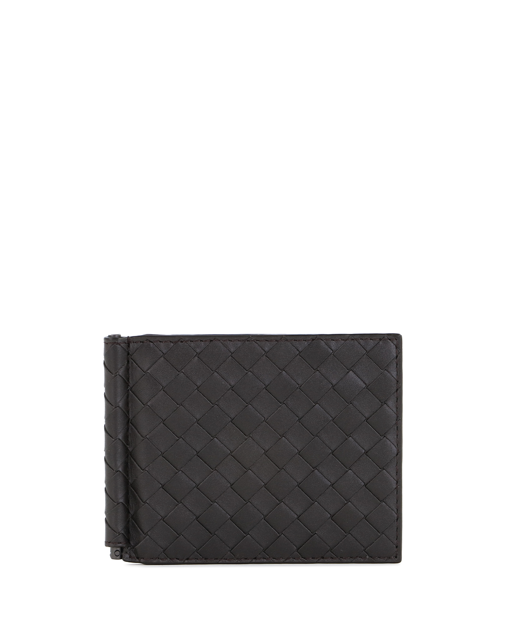 Woven Calf Leather Wallet 123180V4651