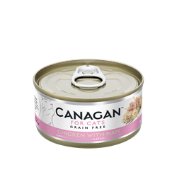 CANAGAN 原之選無穀物貓罐頭(主食罐) - 雞肉伴火腿 75g