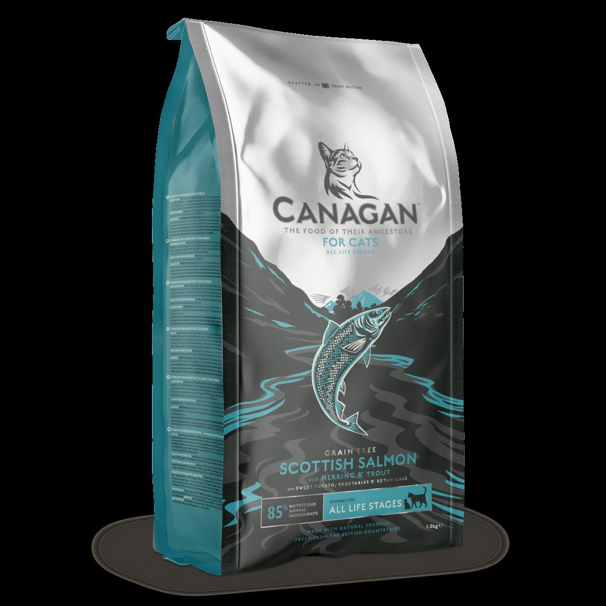 英國 CANAGAN 原之選無穀物天然貓糧 - 蘇格蘭三文魚配方