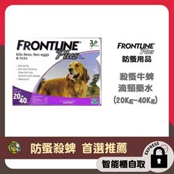 *智能櫃 免運費*Frontline Plus 狗用殺蚤除牛蜱藥水 (20Kg-40Kg)